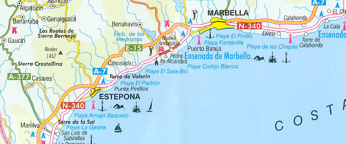 Strande In Andalusien Spanien An Der Costa Del Sol