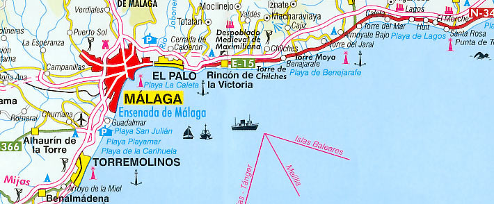 Costa Del Sol Beach Map